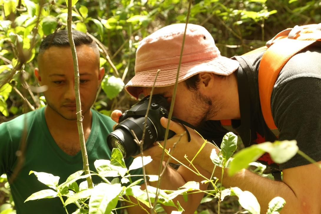 Des écovolontaires relèvent des données sur les espèces sauvages présentent dans le parc national Barra Honda.